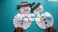 comment faire un bonhomme de neige mobile en papier
