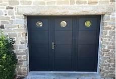 porte de garage battante r 233 alis 233 e 224 auray aluminium56