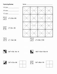 algebra review worksheets 8553 algebra factoring review coloring worksheet by middle school math resource