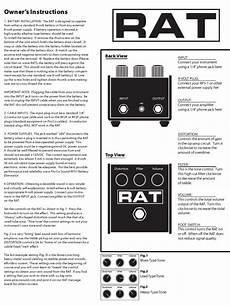 rat 2 owner s instructions battery electricity power supply