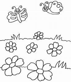 Ausmalbild Schmetterling Wiese Kostenlose Malvorlage Tiere Schmetterlinge Auf Der Wiese