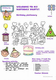 welcome to my birthday party worksheet free esl printable worksheets made by teachers