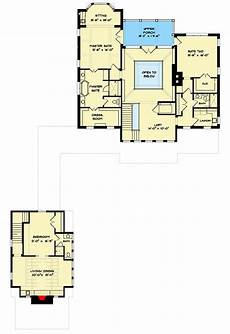 house plans with detached in law suite plan 93109el exclusive 4 bed house plan with detached in