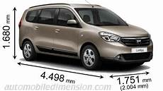 dimension dacia lodgy dimensions of dacia cars showing length width and height