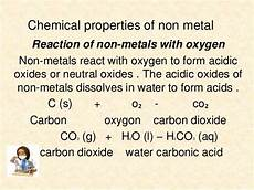reaction of metal with oxygen