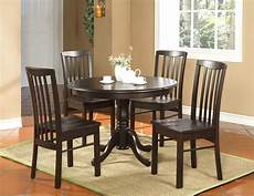 5pc kitchen dinette table and 4 chairs walnut ebay