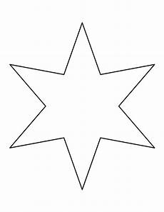 Printable Six Pointed Template