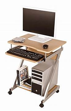 Computertisch Computerwagen Pc Tisch Rollen Buche Dekor