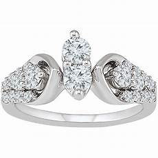 2 in love 14k white gold 1 ctw diamond bridal ring engagement rings jewelry watches shop