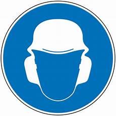 port du casque à vélo panneau port obligatoire casque et anti bruit signals