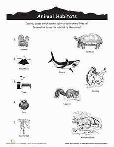 plants and animals worksheets for kindergarten 13507 animal habitats match up animal habitats habitats zoo activities