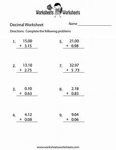 adding and subtracting decimals worksheets grade 5 7376 decimal addition worksheet printable