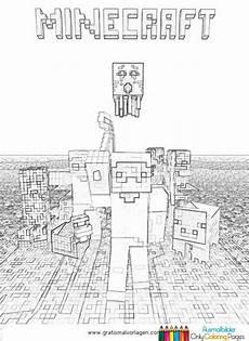 Malvorlagen Minecraft Drucken Minecraft Ausmalbilder Gratis Ausmalbilder