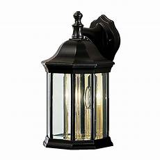 kichler chesapeake 14 75 in h black outdoor wall light at