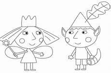ausmalbilder ben und kingdom coloriage