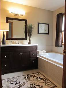 Bathroom Ideas Brown Cabinets by Master Bath Light Wall Color Cabinets Home