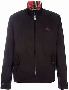 fred perry harrington jacket in black for lyst