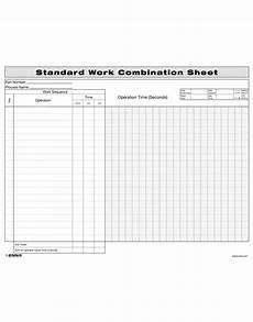 standard work combination sheet enna com