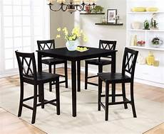 essential home dahlia 5 piece square table dining set black shop your way online shopping