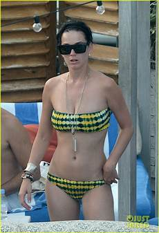 katy perry wears relaxes by a pool in miami oh