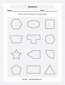 line of symmetry worksheet for each shape draw a line of symmetry mohamed symmetry