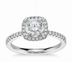 arietta halo diamond engagement ring in platinum 1 5 ct tw blue nile