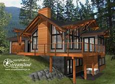 timber frame house plans with walkout basement this elegant three story timber frame log home is a great