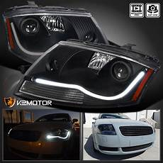 99 06 audi tt led projector headlights reflector black
