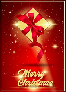 invitation merry christmas card design template happy holiday with gift boxes premium vector