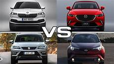 2018 Skoda Karoq Vs 2017 Mazda Cx 3 Vs 2017 Seat Ateca Vs