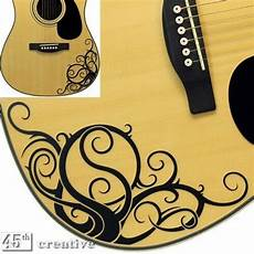 acoustic guitar decals yin yang vine acoustic guitar graphic decal fits standard dreadnought sizes ebay