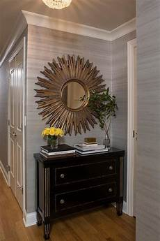 foyer mirrors key foyer chest with gilt mirror transitional