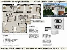 house plans for sloping blocks 1776 sq feet 177 m2 sloping land house plan sloping