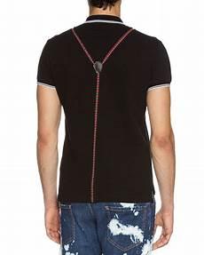 dsquared2 suspender polo shirt black