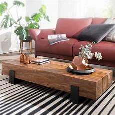 Finebuy Couchtisch Holz Wohnzimmertisch Massiv