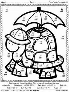 digit addition coloring worksheets four digit
