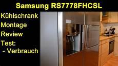side by side kühlschrank billig samsung rs7778fhcsl side by side k 252 hlschrank montage
