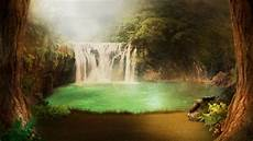 Images Of Backgrounds by Wallpaper Atmosphere Waterfall Forest Sunlight
