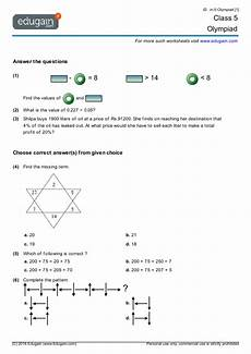 class 5 olympiad printable worksheets online practice online tests and problems edugain india