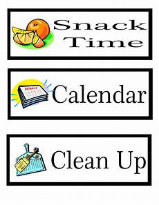card template preschool printable preschool schedule cards learning to be a