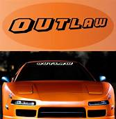 Outlaw Decal Sticker Windshield Lettering – TopChoiceDecals