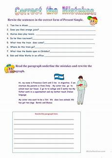 correcting spelling mistakes worksheets 22482 correct the mistakes worksheet free esl printable worksheets made by teachers