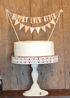 happily ever after bunting pennant cake topper diy wedding cake topper diy cake topper