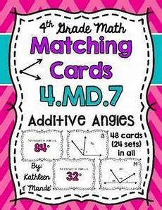 4 md 5 matching cards relating fractional parts of a