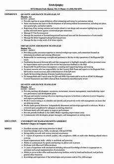 quality asurance team lead resume quality assurance team lead resume sles velvet