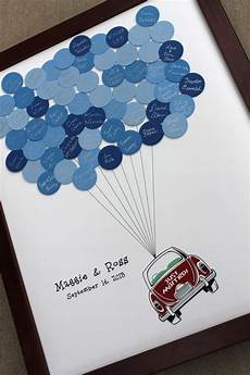 Gästebuch Hochzeit Kreativ - wedding guest book just married car balloons for up to 75