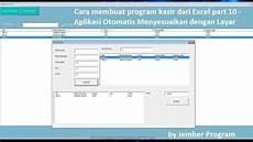 cara membuat aplikasi kasir dari excel part 10 aplikasi otomatis menyesuaikan dengan layar
