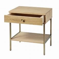 Nachttisch Mit 1 Schublade Und F 252 223 En Aus Messingfarbenem