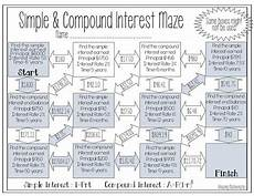 compound probability worksheets 8th grade 6002 simple compound interest maze worksheet consumer math 8th grade math worksheets 8th grade math