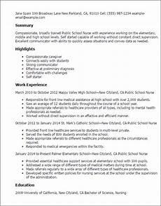 school nurse resume template best design tips myperfectresume